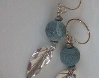 Earrings-handmade sterling silver dangle earrings