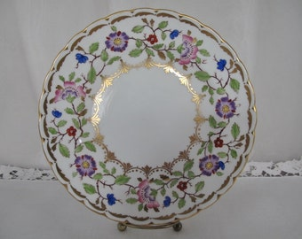 """Beautiful Vintage Royal Chelsea 8"""" Fine China Floral Plate for Serving, Home Decor, Collectibles, ECS"""