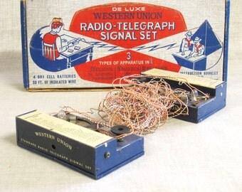 Radiotelegraph , Radio-Telegraph Toy , Western Union ,  Radio Signal , Electronic Toys , Antique Toys , Communications Toy , Radio Toy