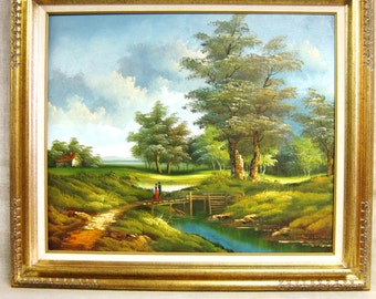 Landscape Painting , Landscapes , Williams , Original , Art , Fine Art , Painting , Forest , Trees , Vintage Art , Framed Paintings