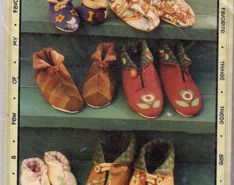 Fabric Slipper Slippers Shoe My Favorite Pair Pattern Design 1996 by Leslie Gladman