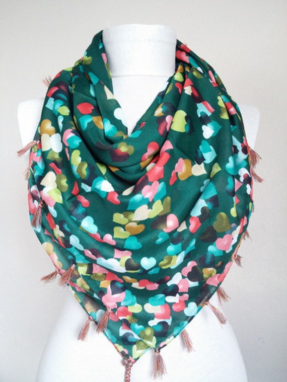 cotton scarf square scarf green scarves scarf fashion