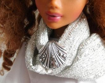Marcasite Dress Clip Vintage Necklace Blythe Pullip Barbie Licca n more
