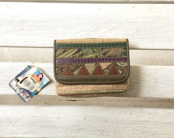 SALE vintage 90s target wallet from bagland, geometric inspired coin purse, card holder, small concert wallet