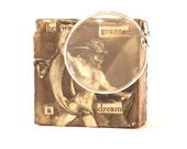 He Was Granted a Dream miniature assemblage art for shelf or wall