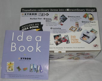 "New Xyron 510 5"" scrapbooking Sticker maker Station with 1 refill cartridge"