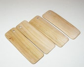 """Plum  wood Tiles blanks for decoupage ( lot of 4 )- (3,56"""" diameter x 1,18"""" thick)"""