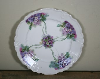 vintage luncheon plate with violets triple crown made in germany