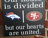 Personalized NFL House Divided Sign