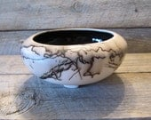 Horse Hair Pottery Shallow Bowl - Made in Wyoming