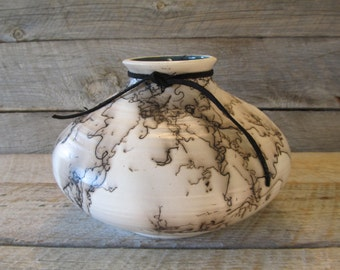 Bear River Vase -Horse Hair Pottery -  Made in Wyoming