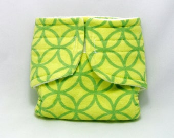 Baby Doll Diaper Green Pattern - Size Large