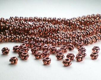 5mm Genuine Copper Spacer Beads 40 pcs. GC-293