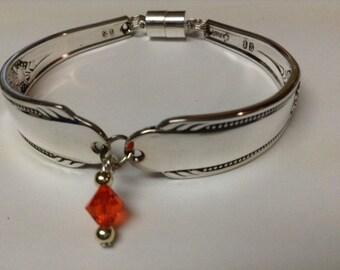 Silverware Bracelet, FREE USA SHIPPING, Spoon Bracelet, Spoon Jewelry, Charm Bracelet, Silver Bracelet, Bracelet, Bent Spoon Bracelet
