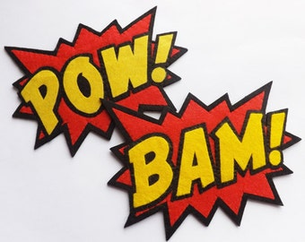POW Headband Superhero Headband Super Hero Comic Book BAM