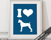 I LOVE BOXERS - Art Print (Featured in Deep Sea) Keep Calm Art Prints and Posters