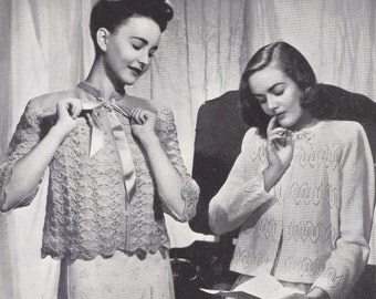 1940s Knitting Patterns Booklet Patons 213 Bed Jackets Dressing Gown Capelet ORIGINAL paper patterns not PDF