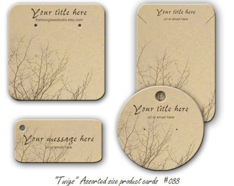 Jewelry Cards  Earring display 088  Necklace Display  Cards  Bracelet Tags Twigs, Product Tags,  Personalized jewelry cards