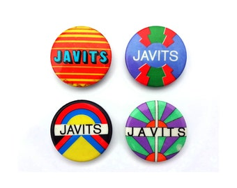 "Milton Glaser & Jason McWhorter ""Javits"" senate campaign pin back button collection, 1968."