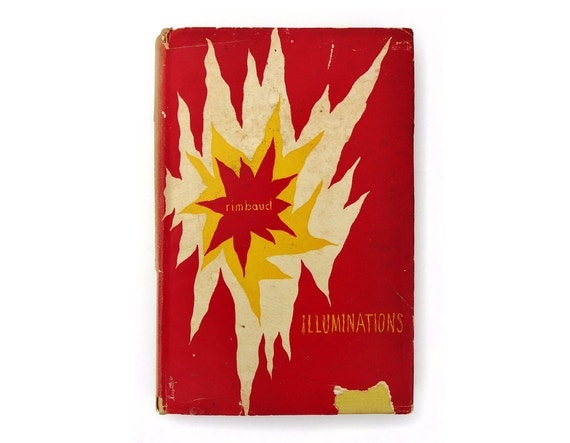 "Alvin Lustig book jacket design, 1946. ""Illuminations"" by Rimbaud."