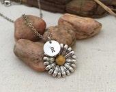 Sunflower Necklace, Best friend Gift, Best friend Necklace, Gift Ideas, Handmade Necklace