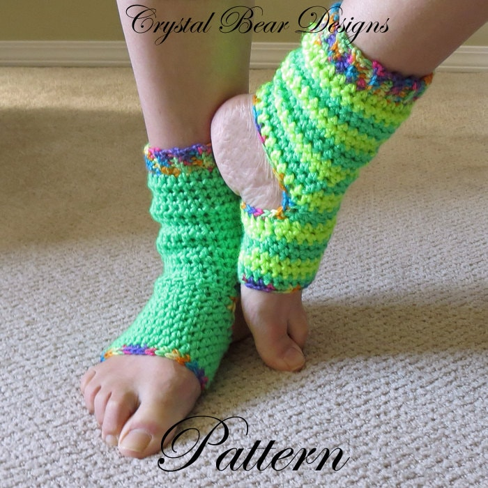 Easy Knitting Pattern For Yoga Socks : Crochet Yoga Socks PATTERN / Tutorial / Ladies Teen Child All