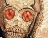 """C3PO Skull - 8""""x10"""" Art Print - """"Oh My!"""" - Dead Star Wars"""