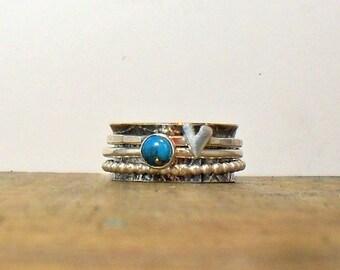 Turquoise & Heart Spinner
