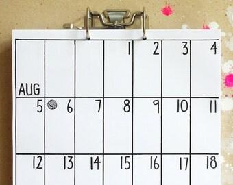 wall calendar Sep 2017 - Feb 2019