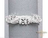 Braided Crystal Bridal Bracelet, Rhinestone Bracelet, Evening, Statement Bracelet, Bridal Bracelet, Bridesmaids Jewelry, Formal