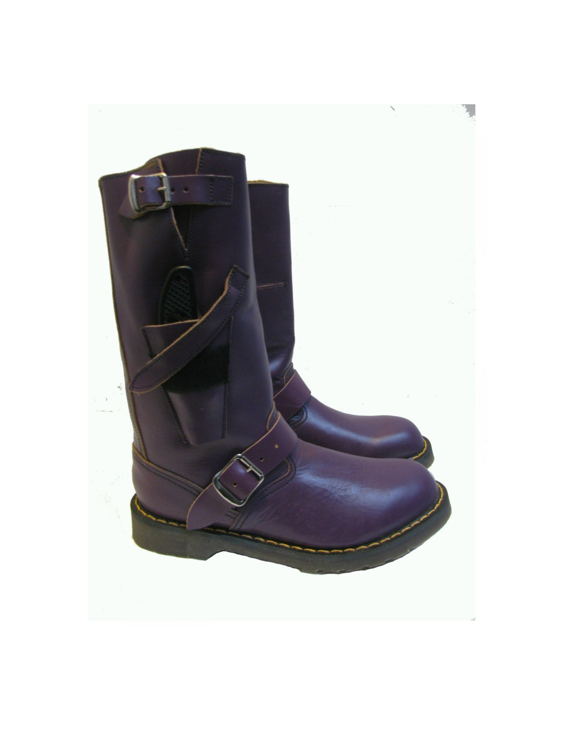 Dr martens motorcycle boot vintage mens purple by atomicfireball