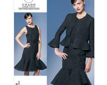 Vogue Dress Pattern v1269 by CHADO RALPH RUCCI - Misses' Jacket, Dress and Belt - Sz 6/8/10/12