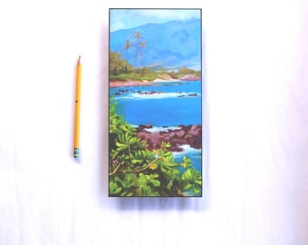 Vertical landscape Limited Edition aluminum print Maui Hawaii Sprecklesville