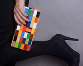 Multicolor clutch made entirely of LEGO bricks FREE SHIPPING