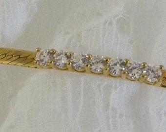Gold tone  Rhinestone Bracelet