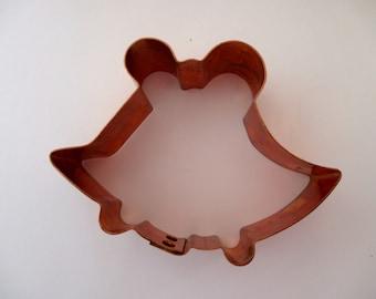 large copper cookie cutter- bells, wedding