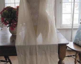 Vintage 112 Inch Silk Shawl Wrap with Fringe Bride Bridal Wedding