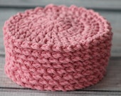 100% Cotton Crochet Face Scrubbies, Bathroom, Make-up Remover, Coasters, Spa, Beauty, Eco-Friendly