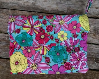 Diaper Clutch and attached minky changing pad  - over 200 fabric choices