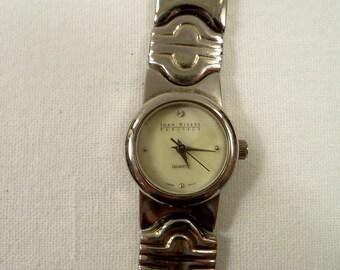 Vintage Signed Joan Rivers Classic Quartz Watch with Rhinestones