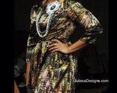 Long sleeve silk misses dress