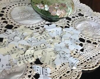 Vintage Sheet Music Butterflies - Confetti - Table Decoration