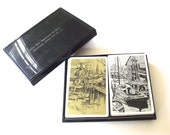 Lionel Barrymore Nautical Illustration Playing Cards, Two Full Decks in Plastic Case