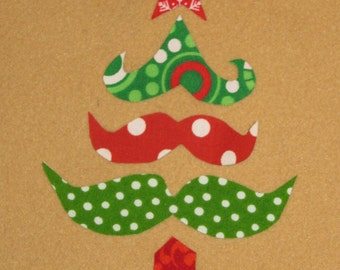 Handmade Christmas Tree appliques, tree applique,  fabric appliques, Iron on sew on, set of 5 pieces