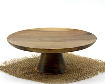 Spalted  Sweet Gum Cake Stand / Pedestal Cake Plate /Cupcake Stand