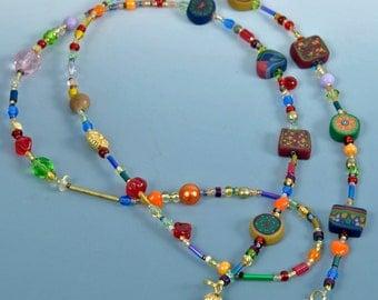 Eyeglass Chain - Jewel Tone Colors
