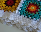 Colorful Full Queen Size Bed Afghan Blanket Crochet Quilt