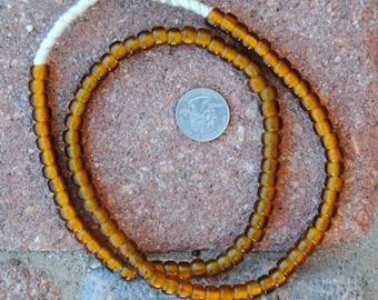 Czech Beads: Transparent Gold (5x8mm)