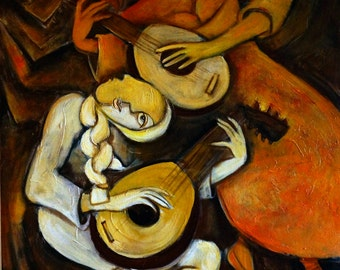 The Lute Players, giclee