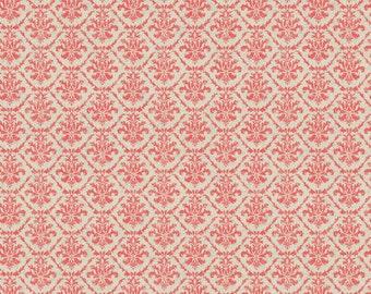 Poulets de Provence by Steve Haskamp for SPX fabrics - Red and Cream Fleur de Lis